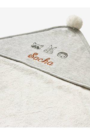 Vertbaudet Conjunto de capa de baño + manopla de baño personalizable de algodón orgánico* Compañía Mini claro liso con motivos