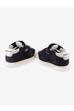 Babybotte Sandalias T-bar de piel bebé Poto ® oscuro liso