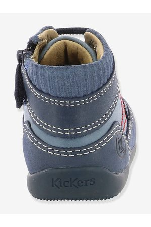 Kickers Botines de piel para bebé Biboy ® oscuro liso con motivos