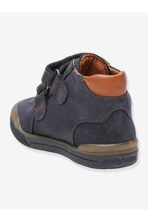 Babybotte Botines sneakers de piel para bebé B3velcro ® oscuro liso