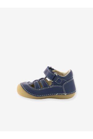 Kickers Sandalias de piel para bebé Sushy ® Primeros Pasos oscuro liso