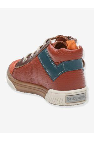 Babybotte Botines sneakers de piel para bebé Automne ® oscuro liso