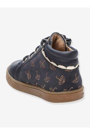 Babybotte Botines sneakers de piel para bebé Apluie ® oscuro liso