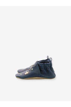 Robeez Zapatillas patucos de piel ligera para bebé Wonderfull © oscuro liso con motivos