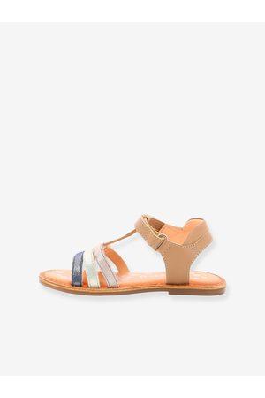 Kickers Sandalias de piel Diamanto ® marron claro liso