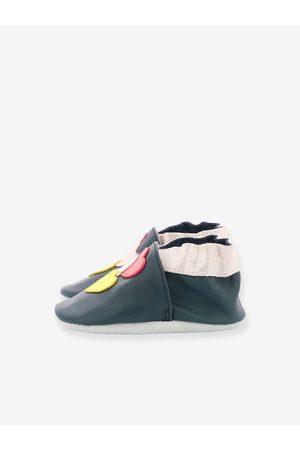 Robeez Zapatillas patucos de piel ligera para bebé Family Love © oscuro liso con motivos