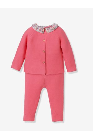 CYRILLUS Conjunto de algodón orgánico de jersey + leggings bebé fuerte liso
