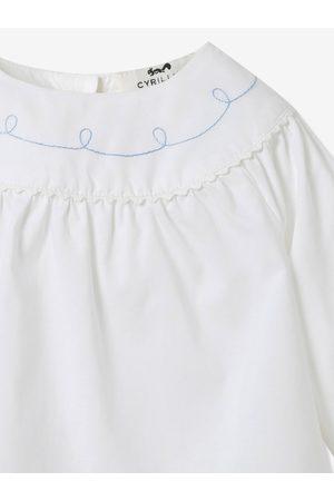 CYRILLUS Blusa de manga larga para bebé claro liso