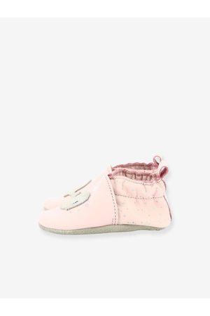 Robeez Zapatillas patucos de piel ligera para bebé Pink Whale © claro liso con motivos
