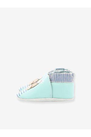 Robeez Zapatillas patucos de piel ligera para bebé Morse © claro liso con motivos