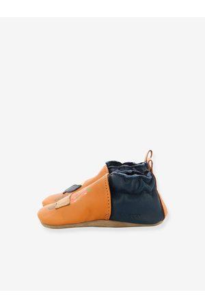 Robeez Zapatillas patucos de piel ligera para bebé Garden Bear © marron claro liso con motivos