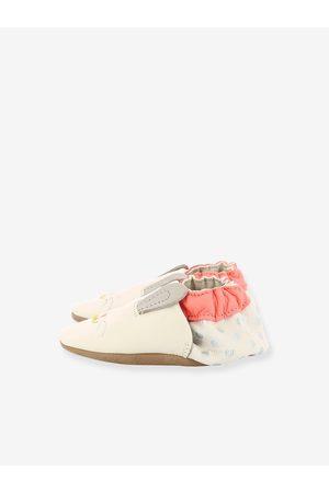 Robeez Zapatillas patucos de piel ligera para bebé Mini Rabbit © claro liso con motivos