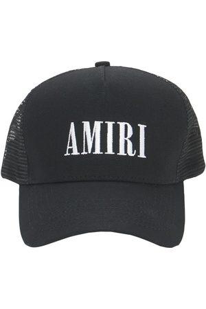 AMIRI Hombre Gorras - | Hombre Gorra Trucker De Lona De Algodón Con Logo /blanco Unique