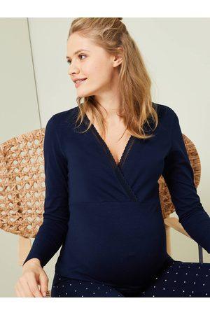 Vertbaudet Conjuntos de ropa - Conjunto de 2 prendas con pijama de embarazo y lactancia oscuro estampado