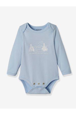Vertbaudet Bebé Bodies bebé - Lote de 3 bodies evolutivos de algodón stretch de manga larga marron claro bicolor/multicolo