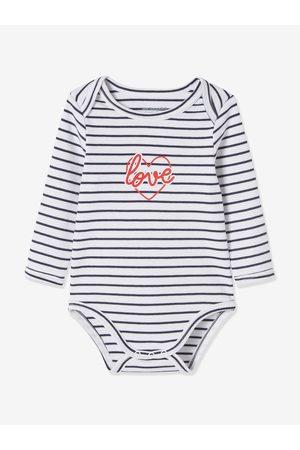 """VERTBAUDET Bebé Bodies bebé - Lote de 3 bodies """"cerezas"""" de manga larga para bebé recién nacido claro bicolor/multicolo"""