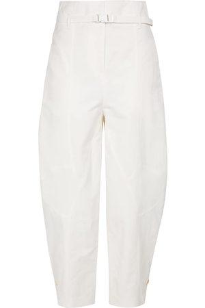 Stella McCartney Pantalones Daisy de tiro alto cropped