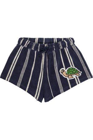Mini Rodini Shorts Turtle en mezcla de algodón