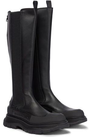 Alexander McQueen Mujer Botas altas - Botas altas Tread de piel