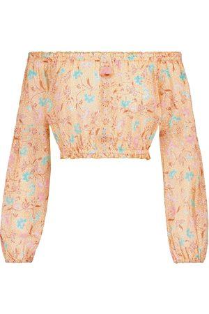 POUPETTE ST BARTH Mujer Crop tops - Exclusivo en Mytheresa – crop top Rachel de algodón estampado
