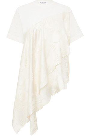 J.W.Anderson Mujer Tops - Camiseta asimétrica con motivo floral