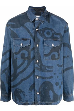 Kenzo Camisa vaquera con estampado gráfico
