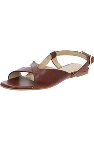 ABOUT YOU Sandalias 'Hermine' cognac