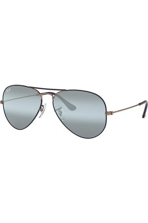 Ray-Ban Aviator Mirror Bronce-Cobre, Lenses Azul - RB3025