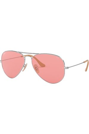 Ray-Ban Aviator Washed Evolve Plata, Lenses Rosa - RB3025