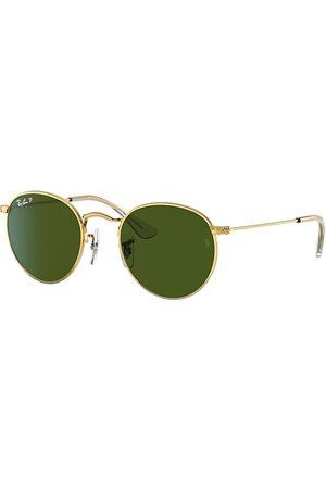 Ray-Ban Gafas de sol - Round Metal Junior Oro, Lenses Polarized Verde - RJ9547S