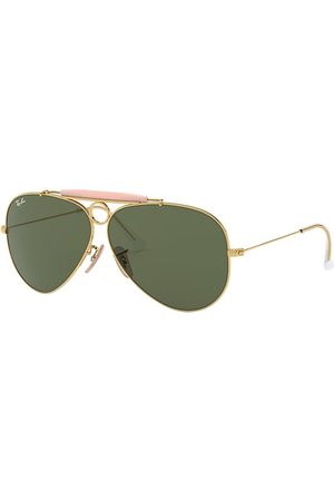 Ray-Ban Shooter Oro, Lenses Verde - RB3138