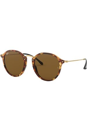 Ray-Ban Round Fleck Oro, Lenses Marrón - RB2447