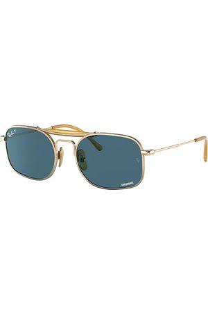 Ray-Ban Gafas de sol - Rb8062 Titanium Oro, Lenses Polarized Azul - RB8062