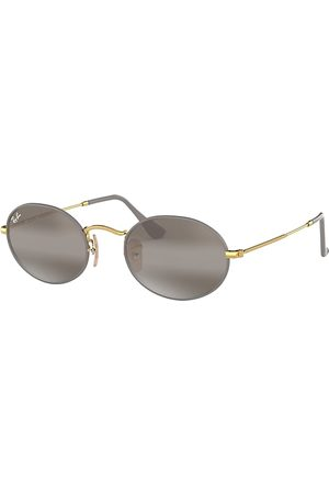 Ray-Ban Oval Oro, Lenses Gris - RB3547