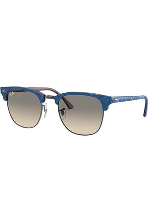 Ray-Ban Clubmaster Marble Wrinkled Blue, Lenses Gris - RB3016