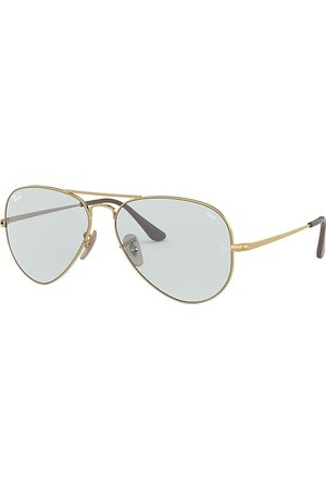 Ray-Ban Rb3689 Solid Evolve Oro, Lenses Azul - RB3689