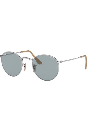 Ray-Ban Round Washed Evolve Plata, Lenses Azul - RB3447
