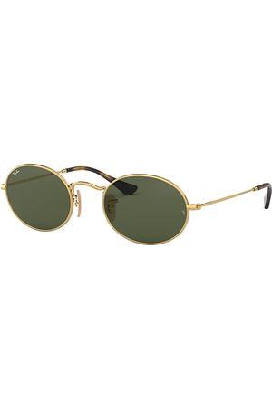 Ray-Ban Oval Flat Lenses Oro, Lenses Verde - RB3547N