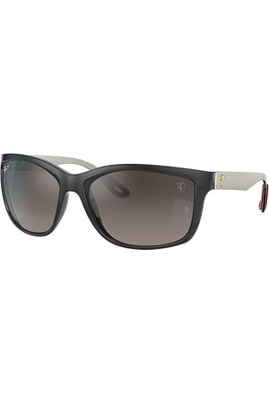 Ray-Ban Rb8356m Scuderia Ferrari Collection Light Carbon, Lenses Polarized Gris - RB8356M