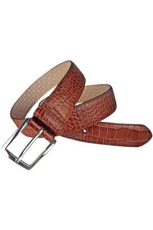 Leyva Cinturón Cinturón grabado de hombre de de piel de cocodrilo para hombre