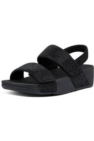 FitFlop Sandalias MINA CRYSTAL BACK STRAP SANDALS - ALL BLACK para mujer