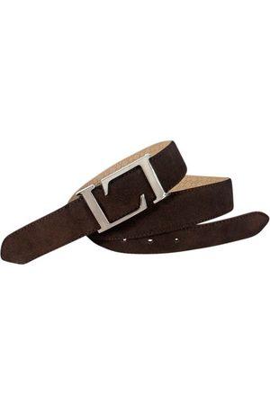 Leyva Cinturón Cinturón de hombre de de piel serraje inglés para hombre