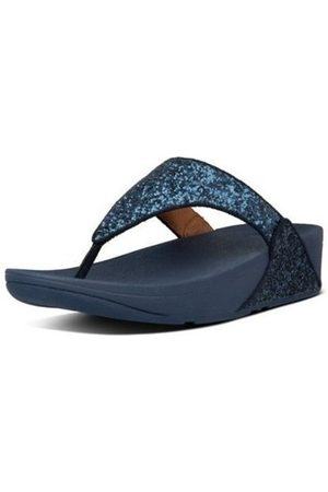 FitFlop Chanclas LULU GLITTER TOE THONGS - MIDNIGHT NAVY para mujer