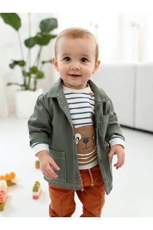Vertbaudet Bebé Chaquetas - Sudadera a rayas de felpa para bebé oscuro a rayas