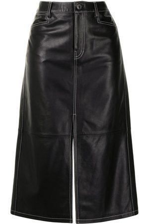 Proenza Schouler White Label Falda recta de cintura alta