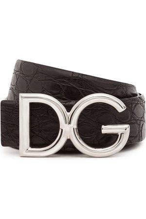 Dolce & Gabbana Hombre Cinturones - Cinturón con logo DG