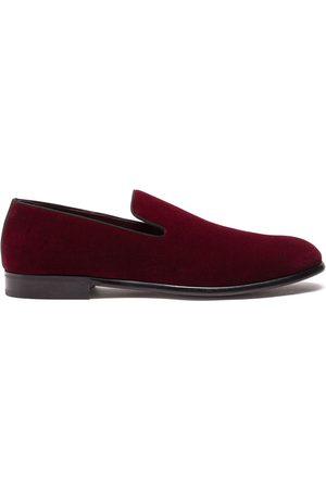 Dolce & Gabbana Slippers con efecto de terciopelo