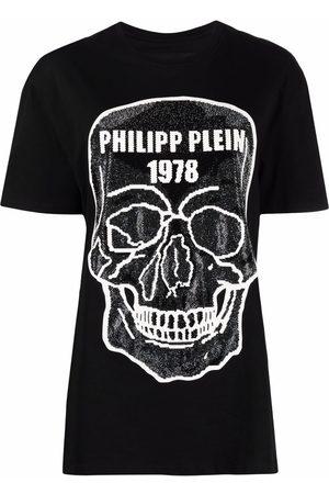 Philipp Plein Camiseta con detalle Skull