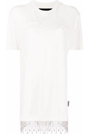 Philipp Plein Mujer Vestidos - Vestido estilo camiseta con flecos