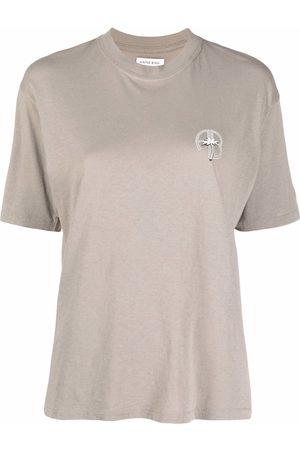 ANINE BING Mujer Tops - Camiseta Ida con palmera estampada